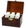 hot new product for 2015 Christmas wooden double wine glasses box wholesale factory price wooden wine box