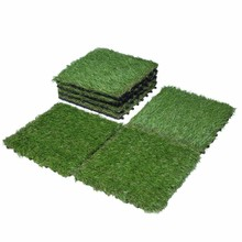 Outdoor interlocking artificial grass tiles for residential deocration