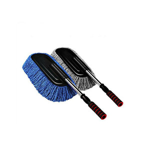Car Wash Brush >> Microfiber Car Wash Foam Brush Soft Bristle Portable Rotating Telescopic Car Wash Brush For Cleaning