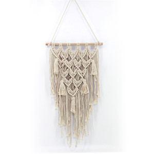 Bedroom Living Decor Fibre Art Boho Crochet Macrame Wall Tapestry