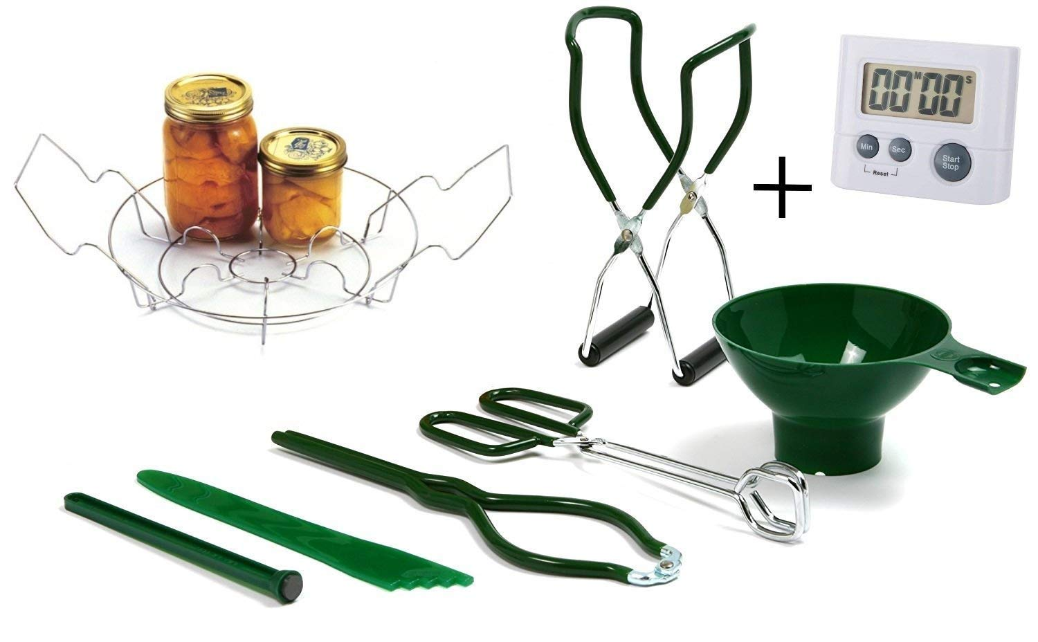 Fox Run  5250 Home Canning Tool Set 5-Piece Red