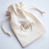 Factory hot sell cotton gift cloth promotional cheap bag with drawstring