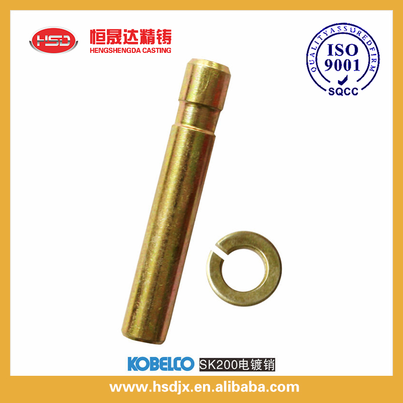 hengshengda bucket tooth pin and retainers for excavator SK200, Kobelco spare excavator