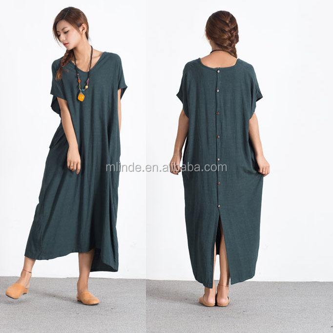 8fdfa7f981d6 Women s linen maxi dress loose linen cotton kaftan oversize bridesmaid dress  large size dress plus size Custom Made