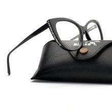2019 роскошный винтажный бриллиантовый женские очки фирменный дизайн прозрачные очки женские металлические т женские кошачьи очки оправа FML(Китай)