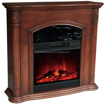 Compact Wood Electric Fireplace Heater Mantle Buy Electric