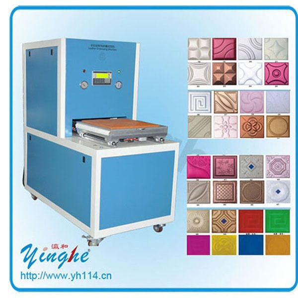 High accuracy leather plating embossing machine