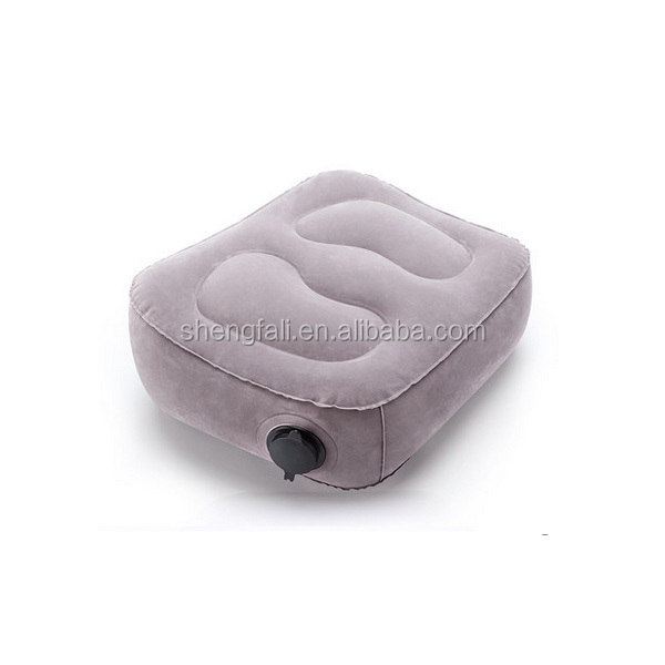 Soft inflatable travel pillow for leg rest air pillow inflatable wedge pillow