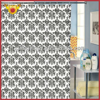Decorative design fancy bathroom polyester shower Curtains,curtain for kids and adult