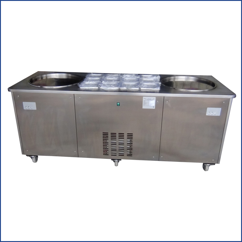 China Supplier Commercial Fried Ice Cream Roll Machine Price