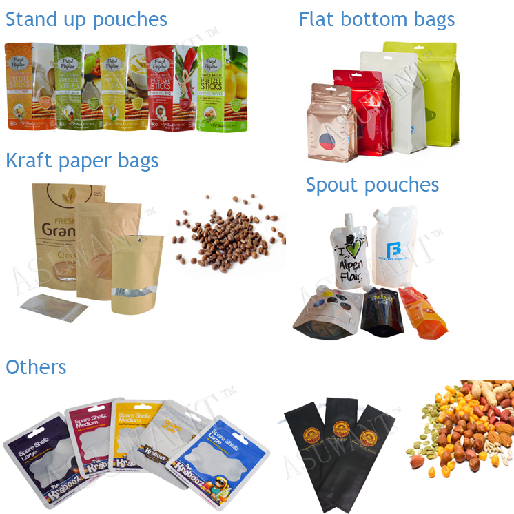 Asuwant Eco Friendly Flexible Plastic Packaging Food Zipper Dog Treat Pouch Bag
