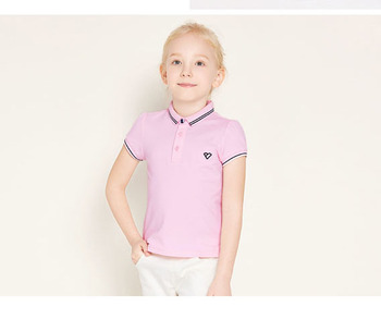 2c077397 kids embroidery summer wear school uniform design for girls 95 cotton 5  spandex polo t shirts