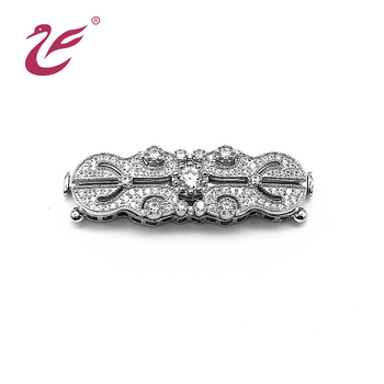 Low price wholesale luxurious and beautiful silver clasps for necklaces or bracelet