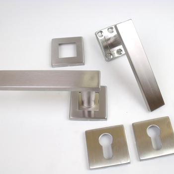 Square Escutcheon Plates,Euro Cylinder,#304 Stainless Steel,Front & Back  Lock Covers - Buy Right Hand Lever Handle,Lever Type Wooden Door