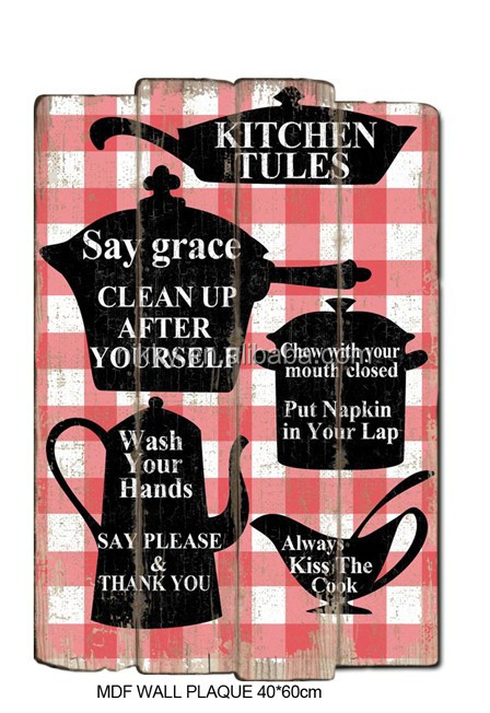 Mdf Decorative Kitchen Wall Plaques Wooden Signs Home Decor Buy Cool Decorative Kitchen Signs