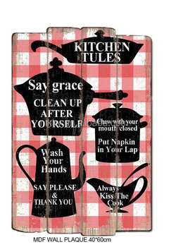 Mdf Decorative Kitchen Wall Plaques Wooden Signs Home Decor