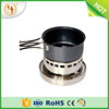 Outdoor Portable non-stick camping Pots Pans mess kit camping cookware folding on the stove