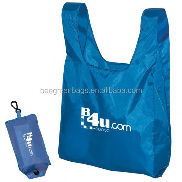 Promo custom logo shopping bag with separate snap pouch VF24-1