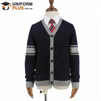 Custom Made Cotton Children Navy Blue School Clothes Uniform