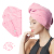 Long pile thick hair towel microfiber hair turban embroider magic hair wrap dryer towel with buttons