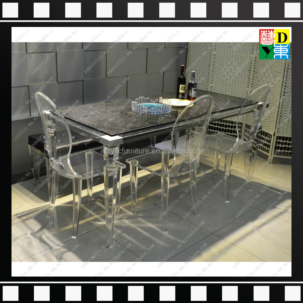 Plexi luxe ontwerp acryl eettafel set elegante acryl woonkamer ...