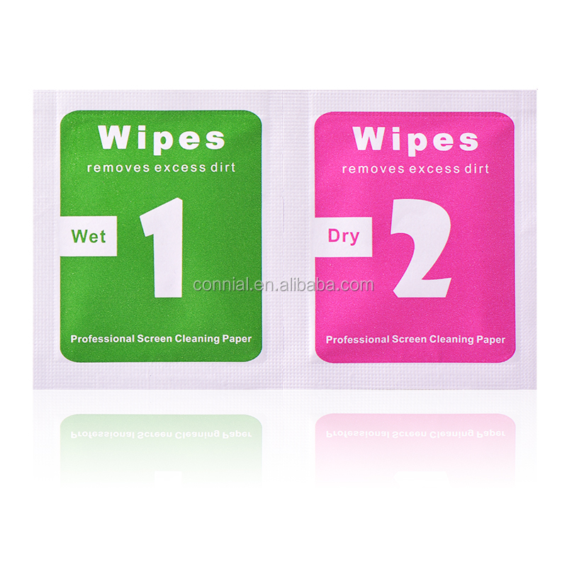 hot professional mini pack cleaning wet&dry wipes for smart phone