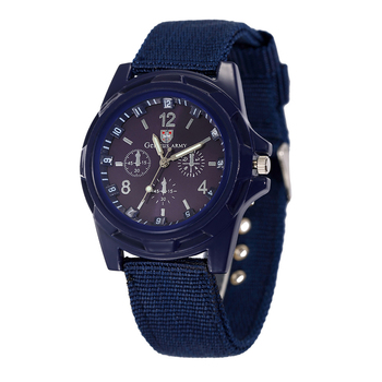 5 Colors Men Sport Military Army Pilot Fabric Strap Military Watch