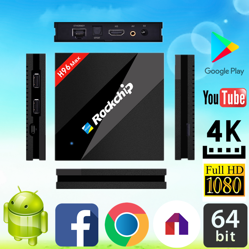 2017 best selling H96 MAX RK3399 4G 32G android digital satellite receiver With Promotional Price ott 6.0 tv box
