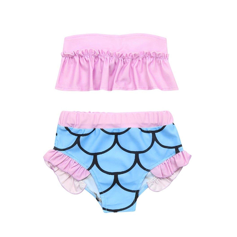 4d8e72b060087 Get Quotations · Hot Sale Shybuy 2Pcs Toddler Girls Pattern Swimwear  Bathing Set Outfits Swimsuit