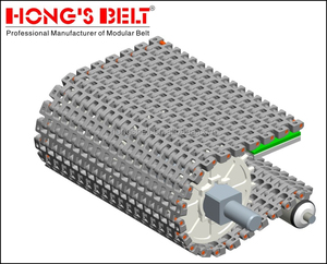 Material Handling Equipment Parts Modular Plastic Conveyor Belt