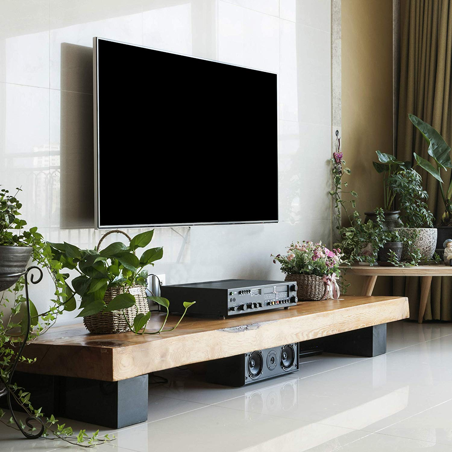Handmade Wood TV Stand Unit Table/Shabby Chic Storage Cabinet Accent Cappuccino Coffee End Table/Vintage Rustic Home Living Room Furniture Organizer