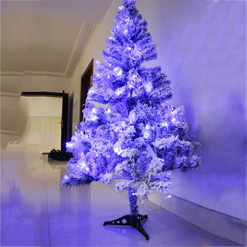 Christmas Tree in Snow with LED Light Flocking 90cm