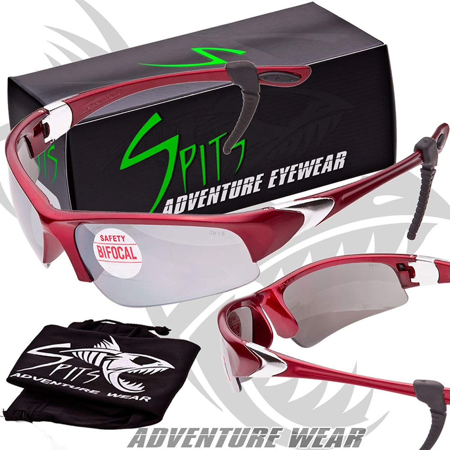 233840fc955 Get Quotations · Velo Spec - Cycling Running 3.00 BIFOCAL Sunglasses - Red  Frame - Flash Mirrored Lenses