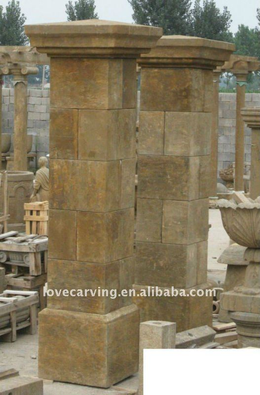 Stone Gate Pillars : Stenen poort pilaren iwc pijlers product id