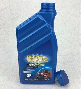 1 Liter plastic HDPE empty lubricating oil bottle, plastic container