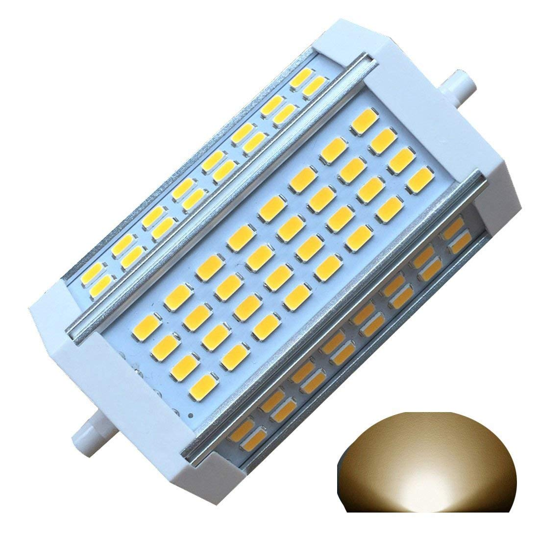 qlee R7S LED J118 118mm Dimmable Bulb 30W Warm Light 3000k AC120V 3000LM Double Ended J LED Floodlight For R7S 200W 300w 400w Halogen Replacement (3000k warm light)
