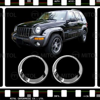 Chrome Headlight Cover For Jeep Liberty Auto Accessories