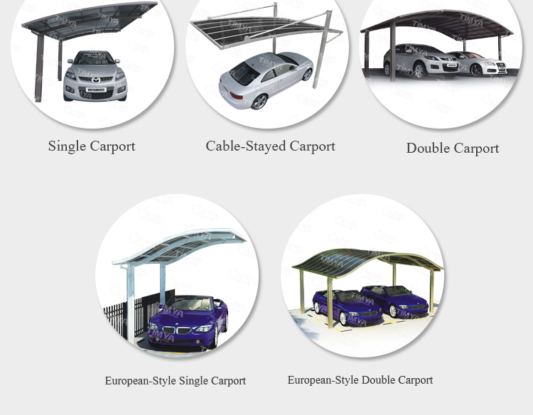 newest design solar carport canopy with aluminum frame - Carport Canopy