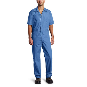 Blue Short-Sleeve Coverall Work Wear Uniforms