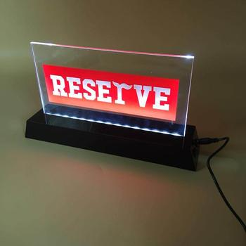 wholesale restaurant reserve table sign etched acrylic led signs