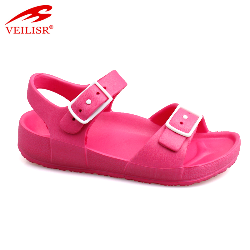 China buckle design footwear fancy ladies EVA sandals
