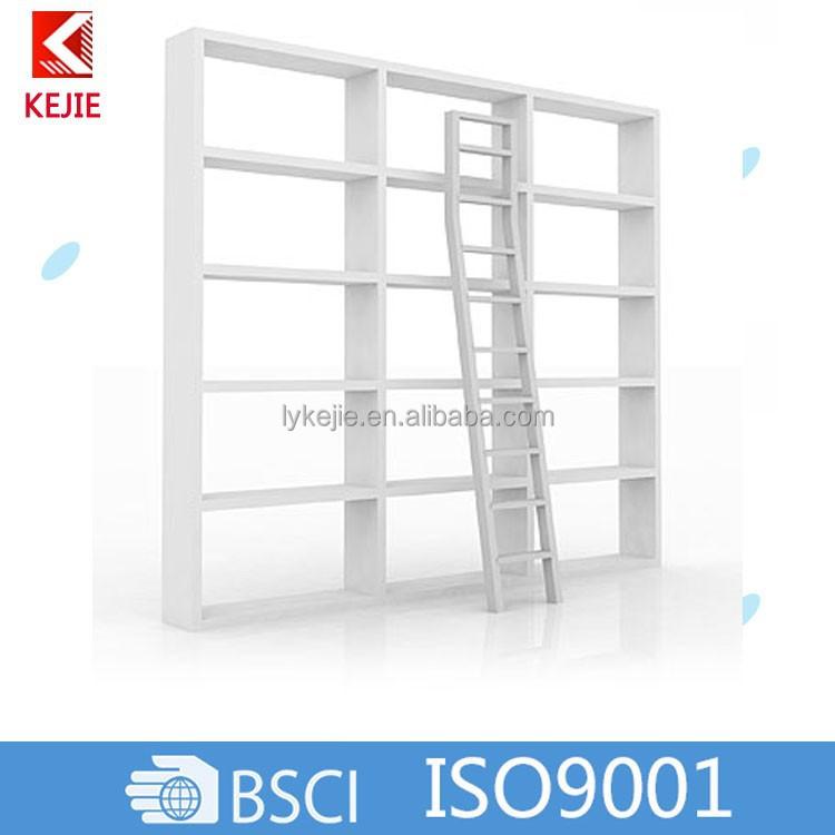 de acero moderna cama litera de metal y biblioteca escaleras para super mercado