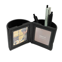Pen Pencil Holder with Photo Frames Desk Organizer Desk Decoration Multi Function Desk Stationery Space Saver