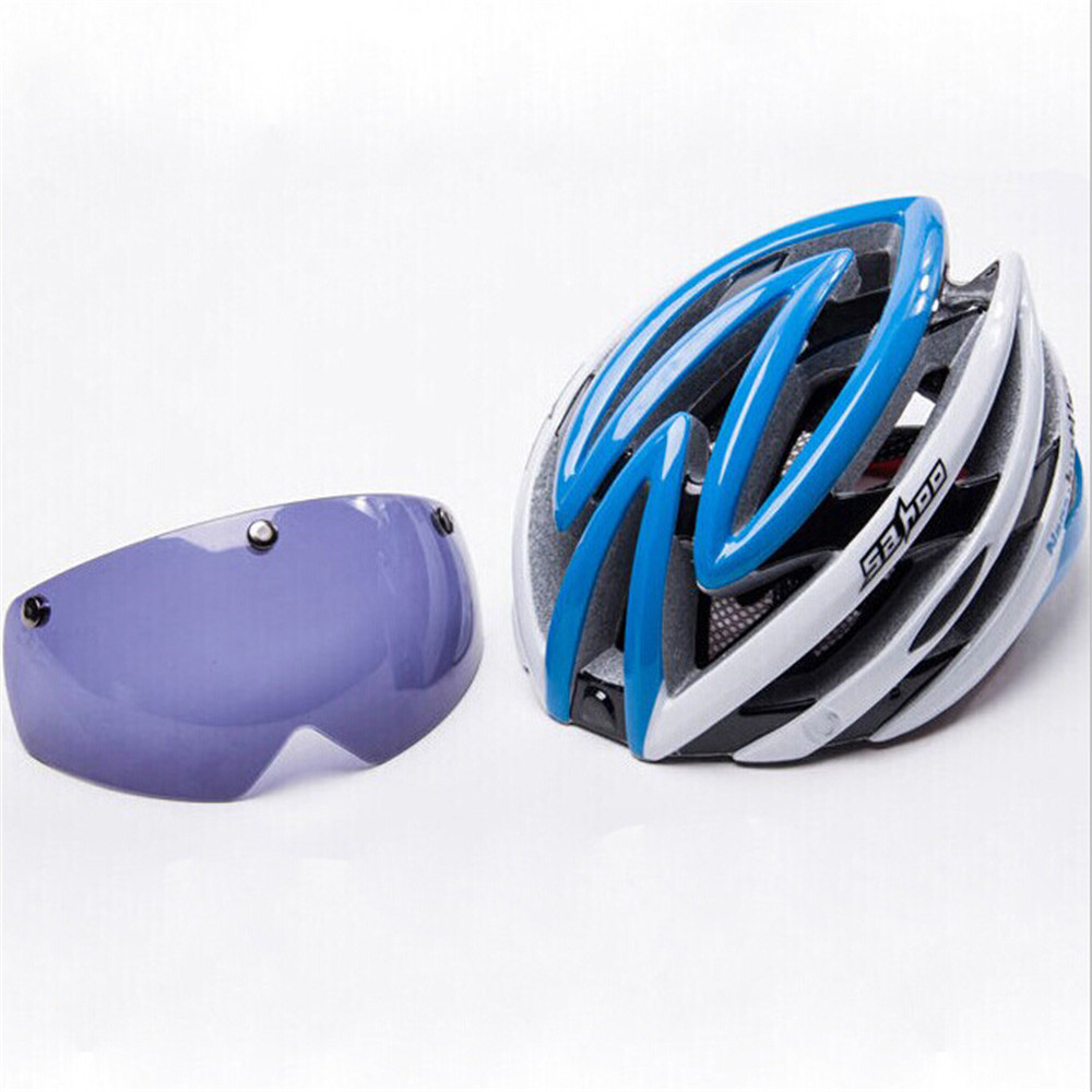 be8b59e1235 Get Quotations · Bicycle Cycling Helmet Mountain Bike Helmet With Myopia  Glass Caschi Bici Ciclismo Capacete Integrally Road MTB