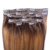 New product clip hair extension thick ends raw virgin brazilian clip in extension human hair