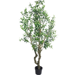 6ft 1.8m tall artificial foliage vertical gardening p roducts olive bonsai aquarium rubber plastic tree plants E04 2606