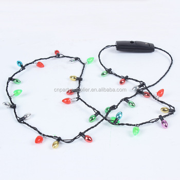 christmas led bulb necklace