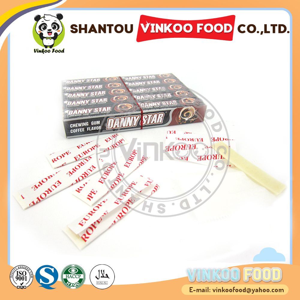 wholesale 5 stick danny star coffee flavor chewing gum