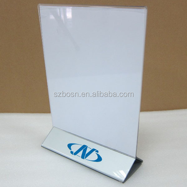 Hot Sell Table Top Acrylic Menu Holder Sign Holder Table Tent