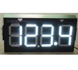 12 inch gas price display / white led gas price sign